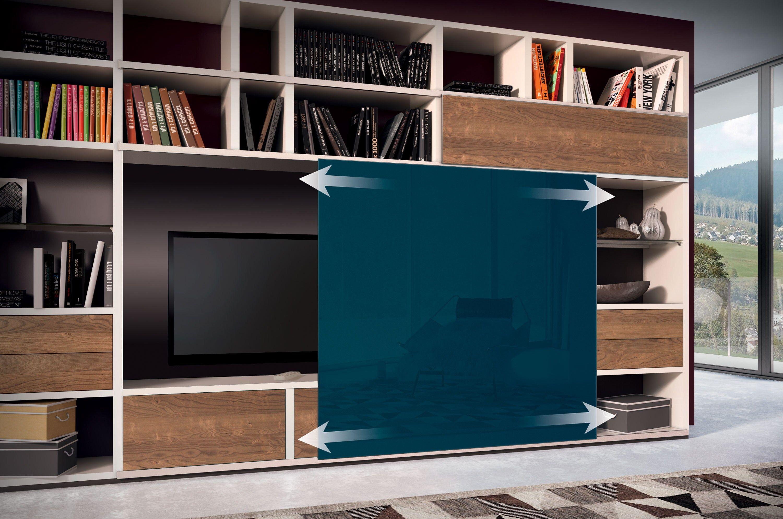 mega design biblioth que avec support tv by h lsta werke h ls. Black Bedroom Furniture Sets. Home Design Ideas