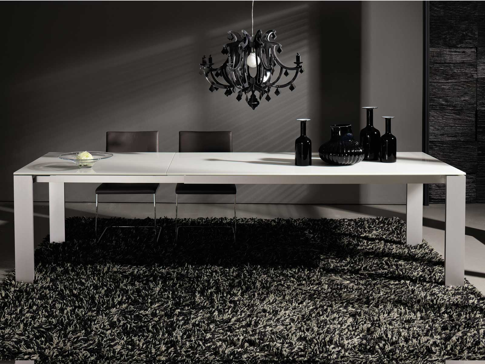 tavolo allungabile da pranzo in vetro et 1000 plus. Black Bedroom Furniture Sets. Home Design Ideas