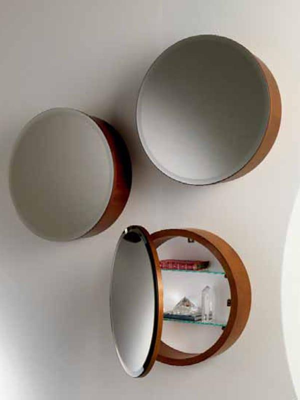 Miroir rond avec rangement obl by carpanelli classic - Miroir psyche avec rangement ...