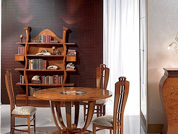 Libreria in noce collezione floreale by carpanelli classic - Carpanelli mobili ...