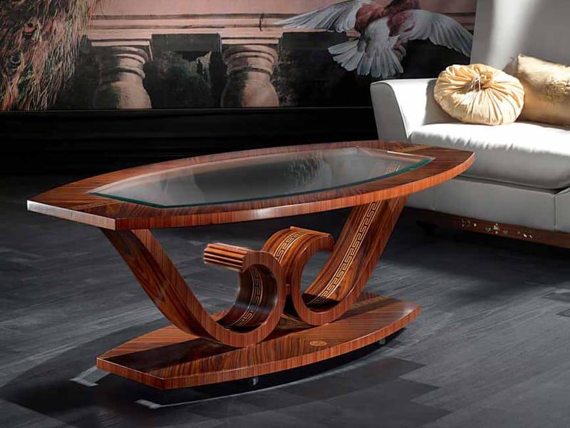 Table basse ovale de salon collection le volute by carpanelli classic - Table de salon ovale ...
