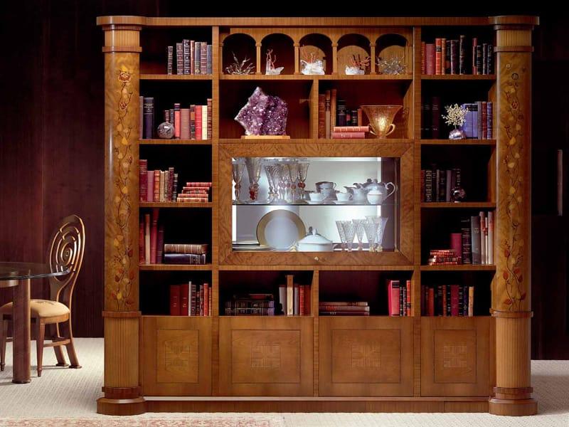 Libreria in zebrano collezione zebrano by carpanelli classic - Carpanelli mobili ...