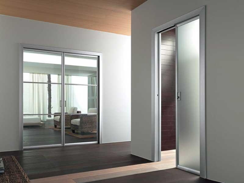 Puerta corrediza empotrada de vidrio colecci n unika by - Puertas correderas empotradas precio ...