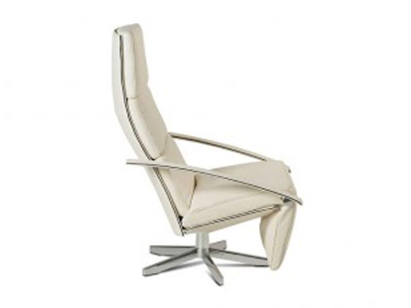 fauteuil inclinable en acier avec repose t te avec repose pieds casanova by jori design jean. Black Bedroom Furniture Sets. Home Design Ideas