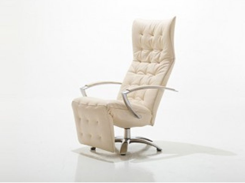 Fauteuil pivotant rembourr inclinable square by jori - Fauteuil inclinable design ...