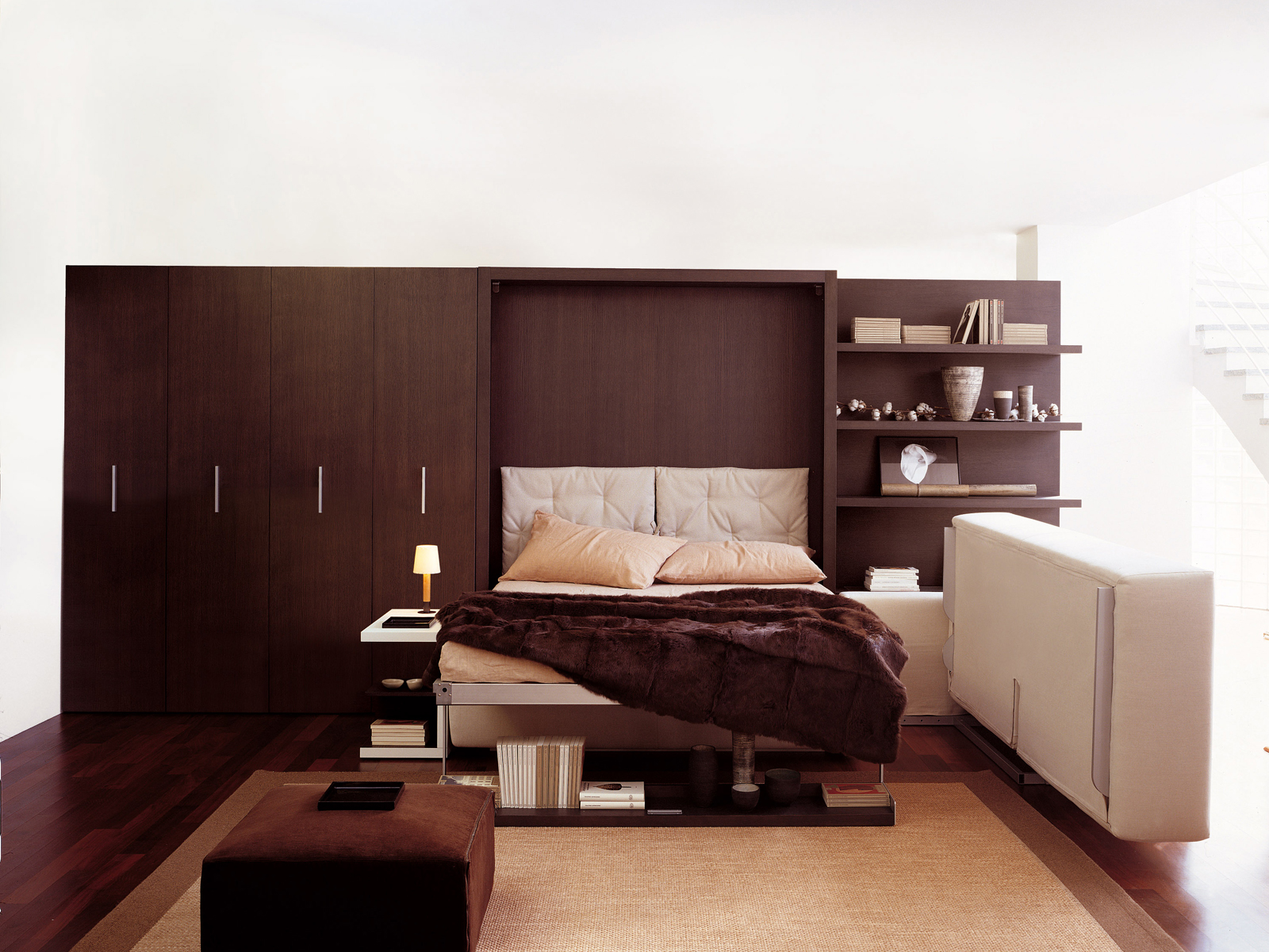 Mueble modular de pared con cama abatible atoll 202 by - Mueble salon con cama abatible ...