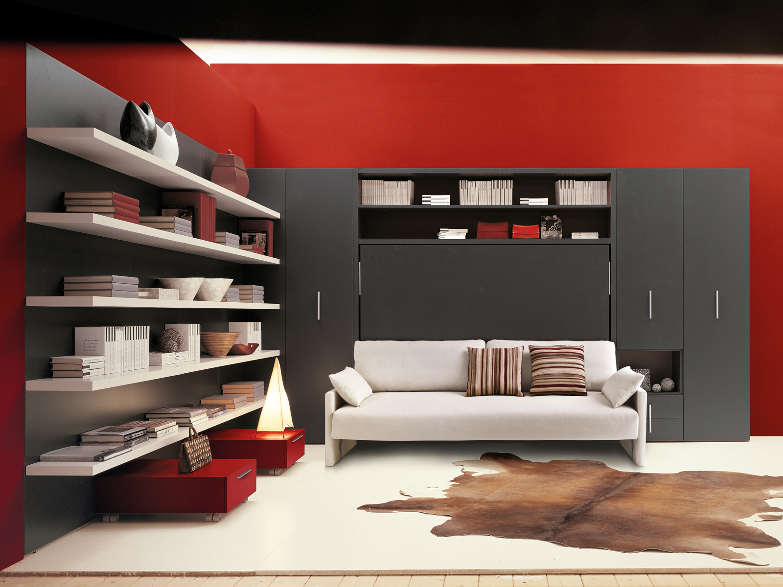 Mueble modular de pared con cama abatible CIRCE SOFA by CLEI diseu00f1o R ...