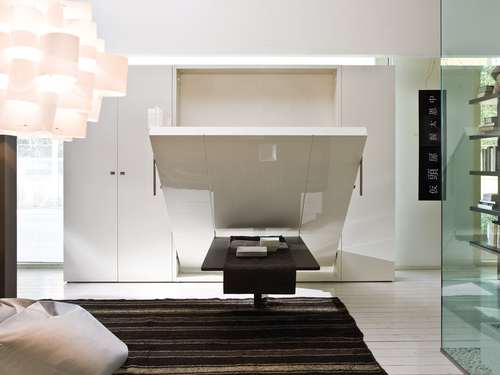 Pull down double bed ulisse dining by clei - Bed that folds down from wall ...