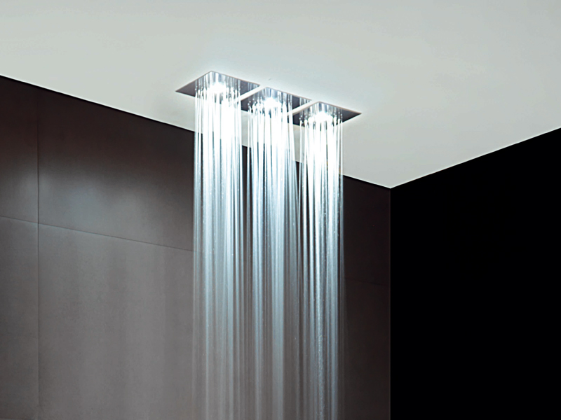 Built In Lights For Ceiling : Z overhead shower by zucchetti design matteo thun