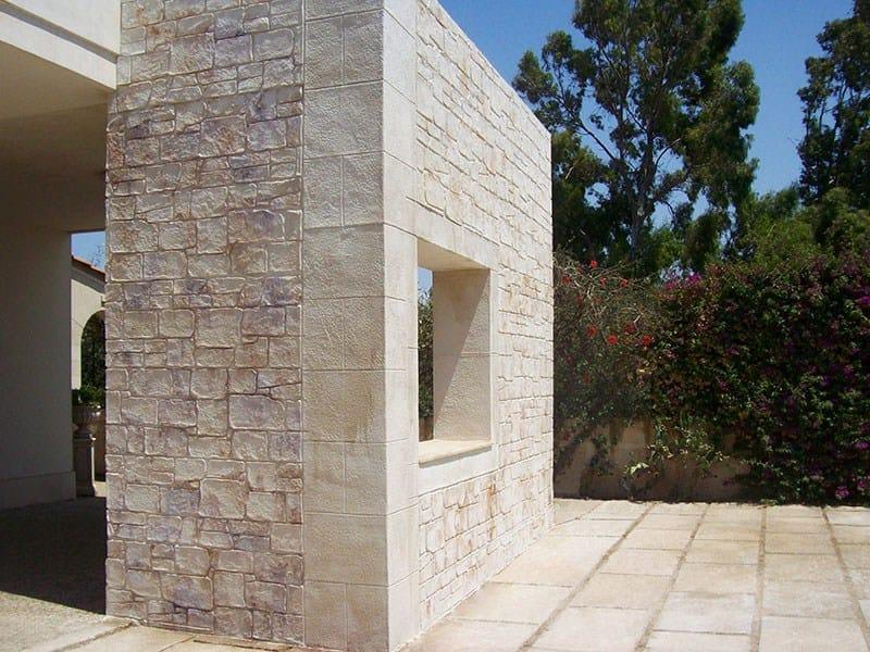 Rivestimento in cemento effetto pietra muro stampato by - Come piastrellare un muro esterno ...