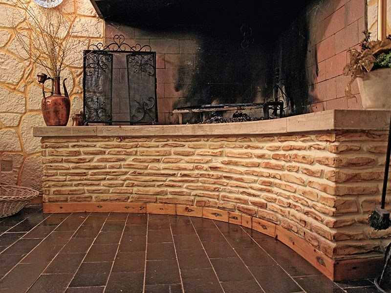 Rivestimento in cemento effetto pietra muro stampato by - Decorazioni muri esterni ...