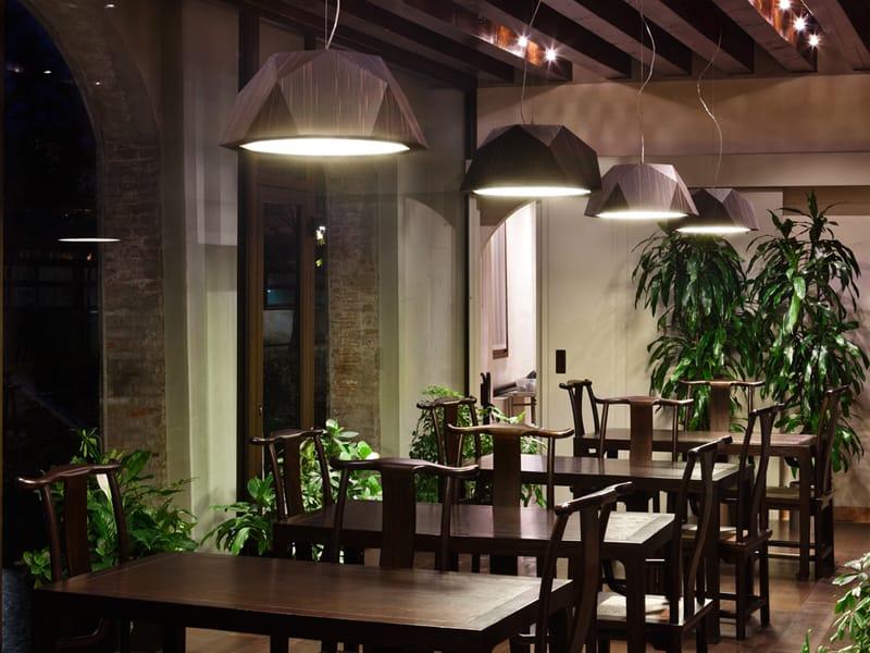 Lumin ria pendente fluorescente crio by fabbian design - Luminaria fluorescente estanca ...