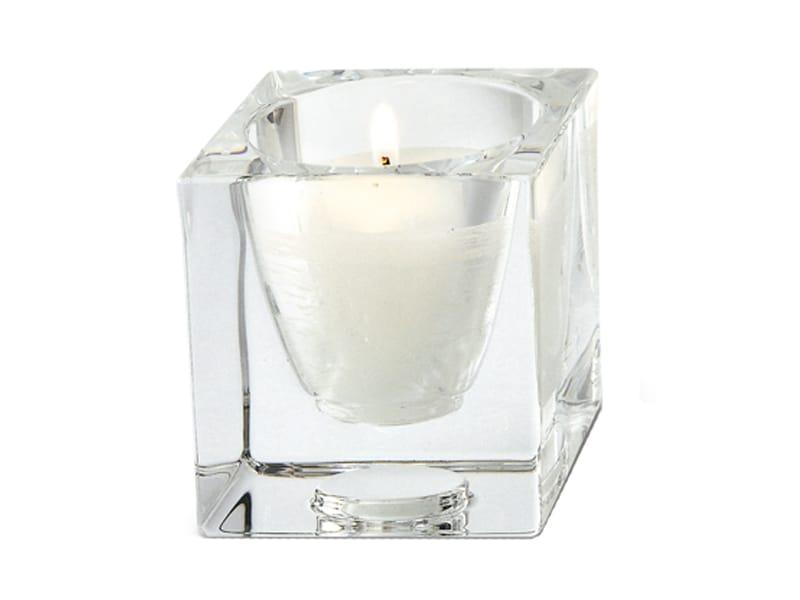 Cubetto portacandele by fabbian design robertopamio partners - Portacandele in vetro ...