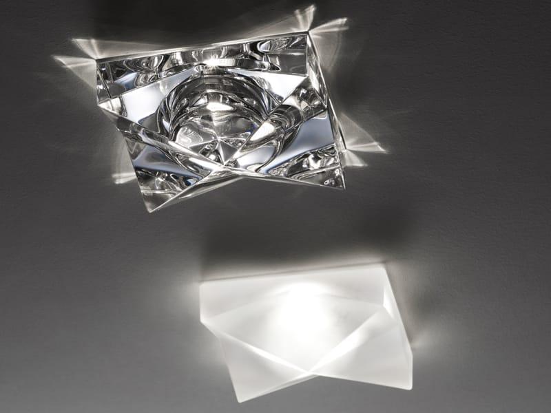 Faretto in cristallo da incasso CINDY by Fabbian design Robertopamio + partners