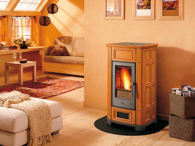 p955 pellet stove by piazzetta