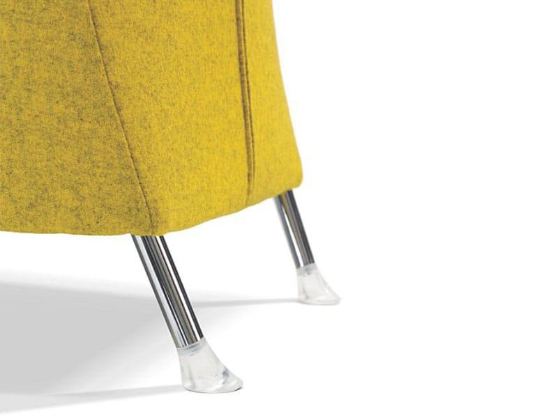 Designer Sessel Mit Fußschemel : Gepolsterter sessel mit armlehnen fu?schemel windy by