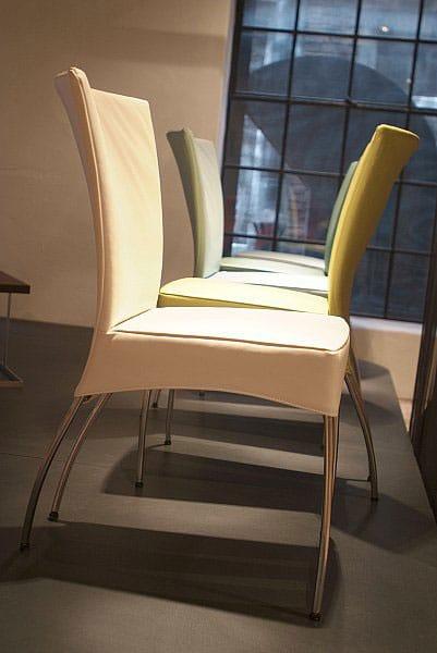 stuhl aus verchromtem metall mit hoher r ckenlehne spica by montis design gijs papavoine. Black Bedroom Furniture Sets. Home Design Ideas