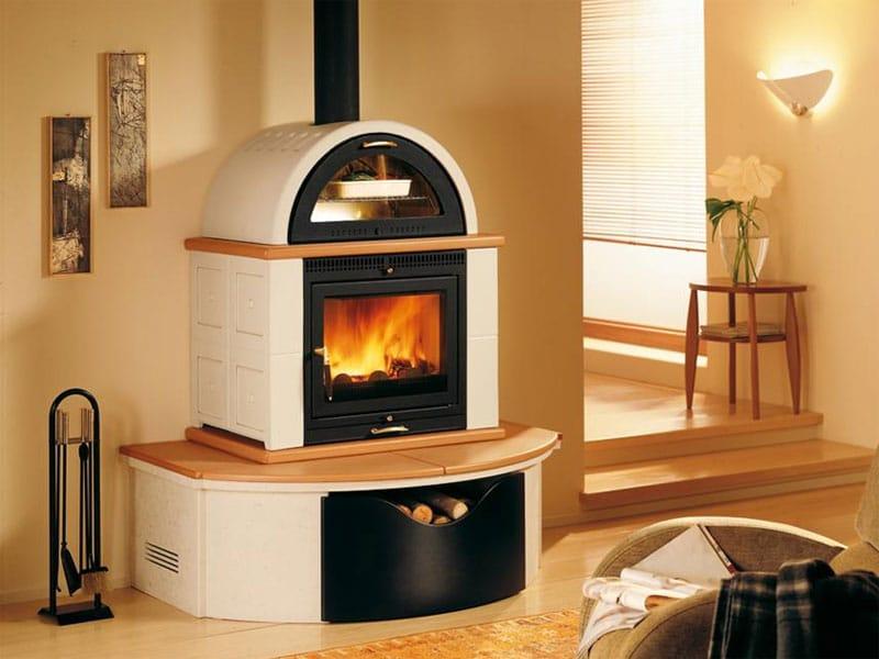 Stufa a legna per riscaldamento aria mo1m collezione stubotto by piazzetta for Stufe a legna immagini