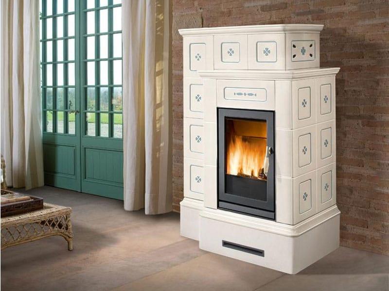 Stufa per riscaldamento aria ortisei a legna collezione stubotto by piazzetta - Stufe a legna per riscaldamento ...