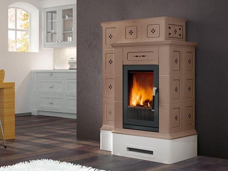 Stufa per riscaldamento aria ortisei a legna collezione stubotto by piazzetta - Stufa a legna per riscaldamento ...