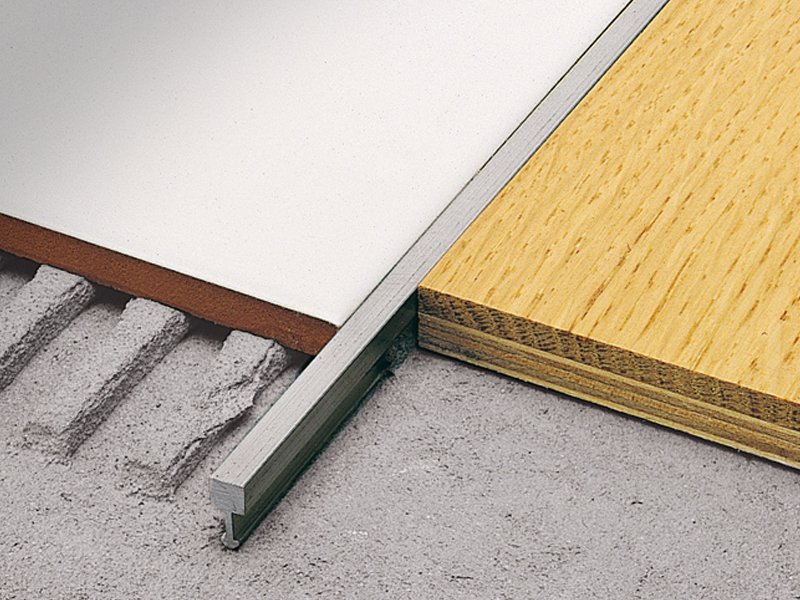 Separation profile for matching floors linetec ad linetec - Separation carrelage parquet ...