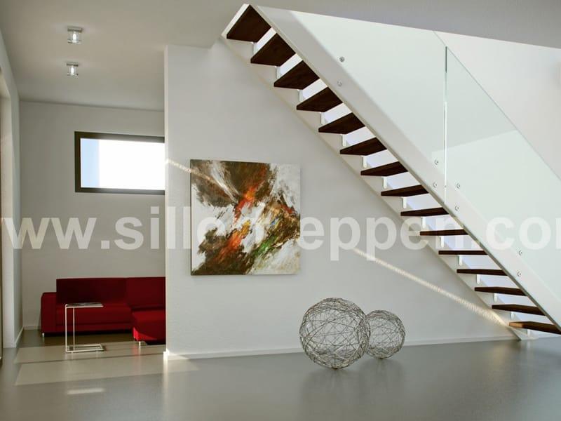 offene treppe aus holz und glas future by siller treppen. Black Bedroom Furniture Sets. Home Design Ideas