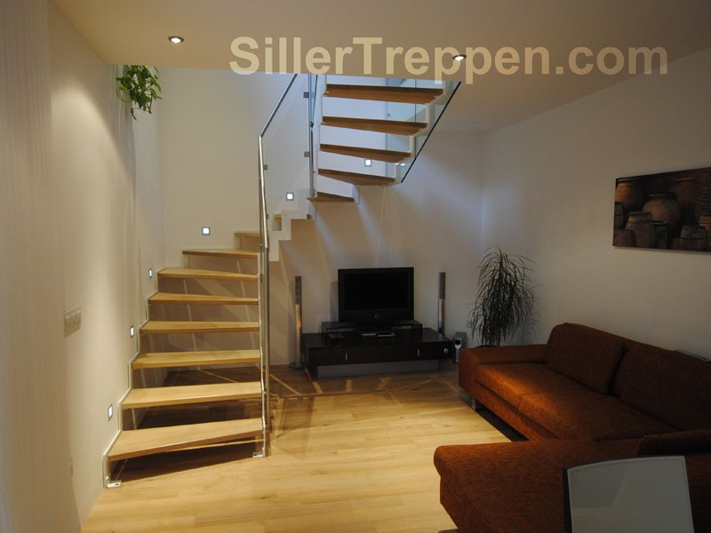 offene treppe superior light by siller treppen. Black Bedroom Furniture Sets. Home Design Ideas