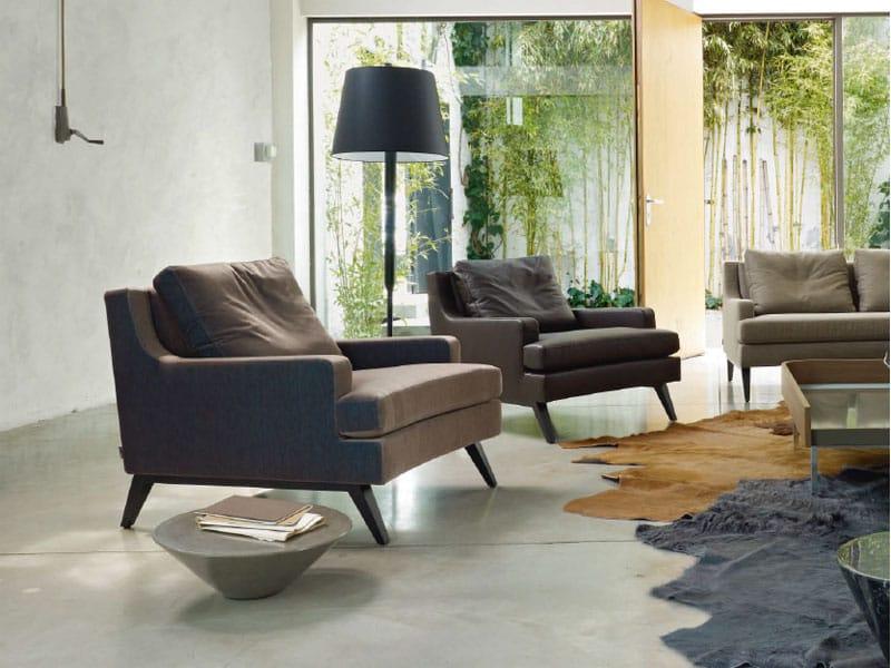 armchair with armrests belem by roset italia design didier. Black Bedroom Furniture Sets. Home Design Ideas