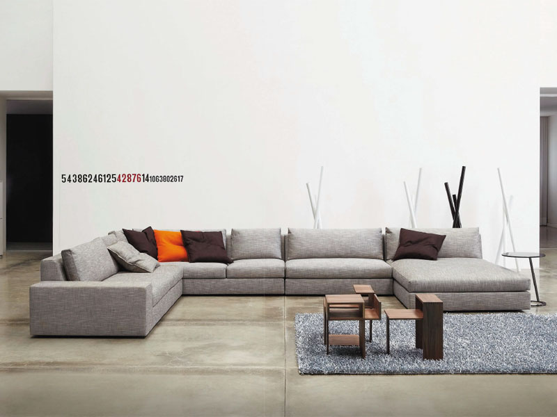 sectional sofa exclusif by roset italia design didier gomez. Black Bedroom Furniture Sets. Home Design Ideas