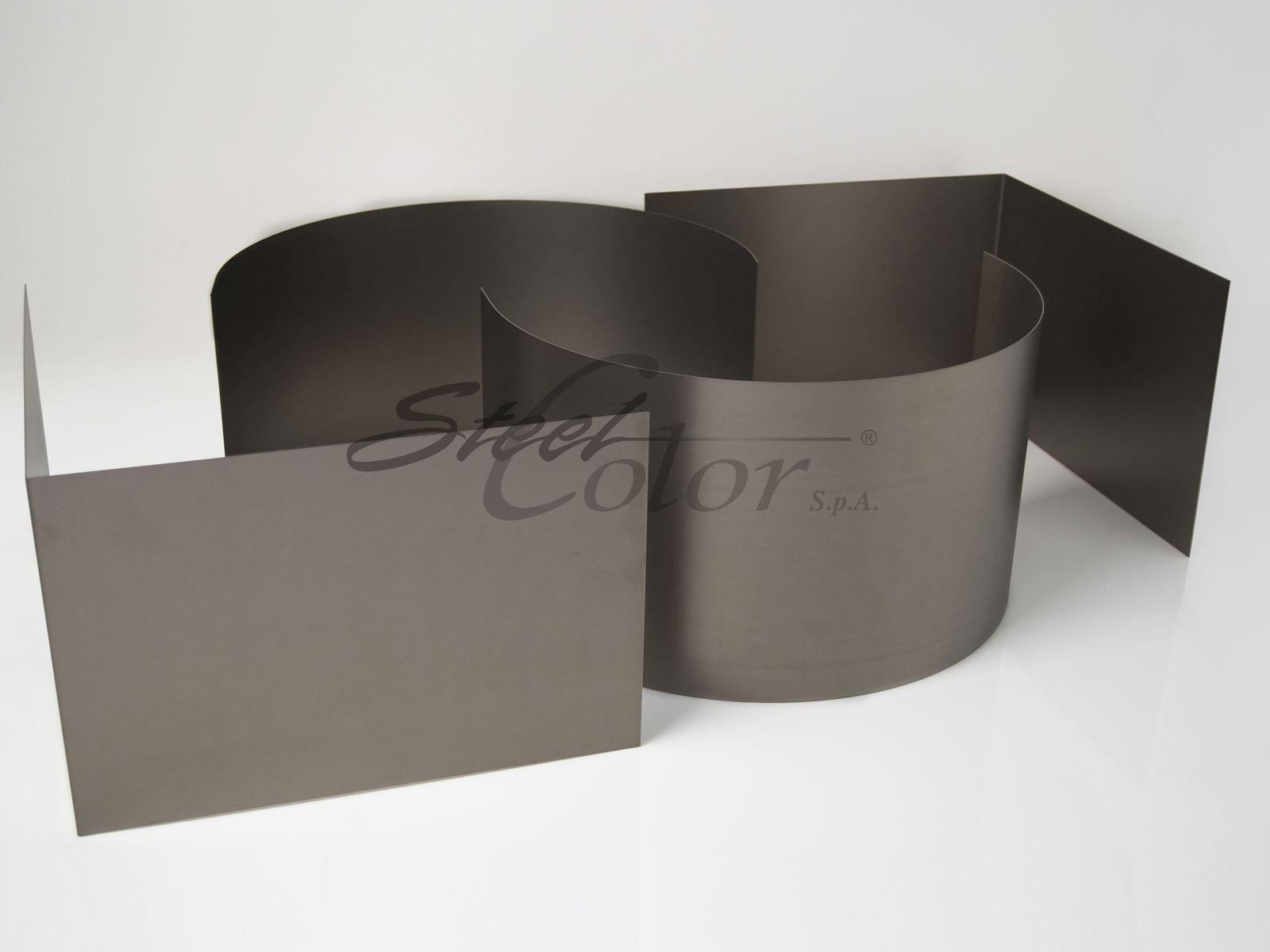 Pareti Colorate Bronzo : Lamiera in acciaio pallinato by steel color