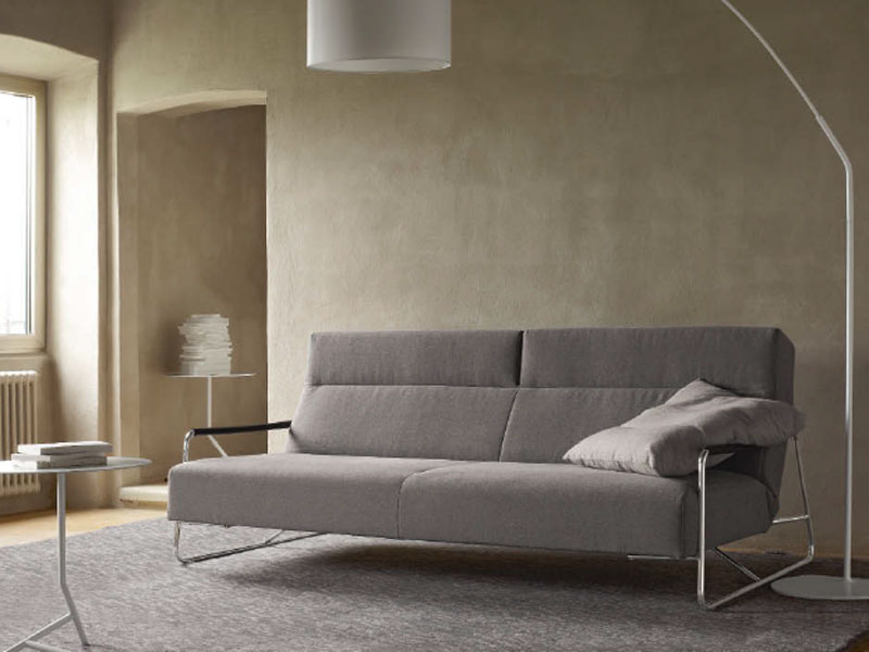canap lit en tissu avec repose t te janus by roset italia design pascal mourgue. Black Bedroom Furniture Sets. Home Design Ideas