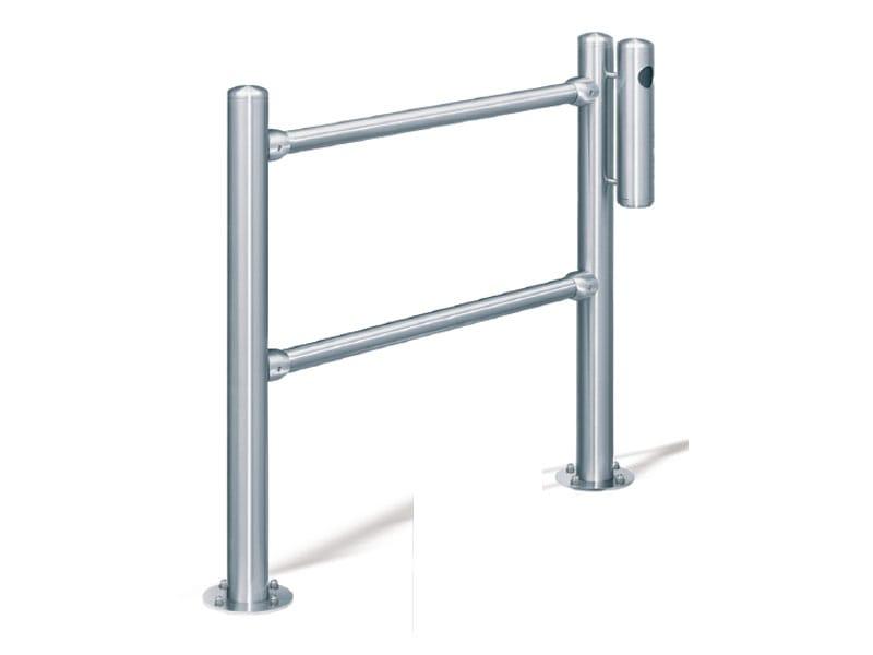 Stainless steel pedestrian barrier inox