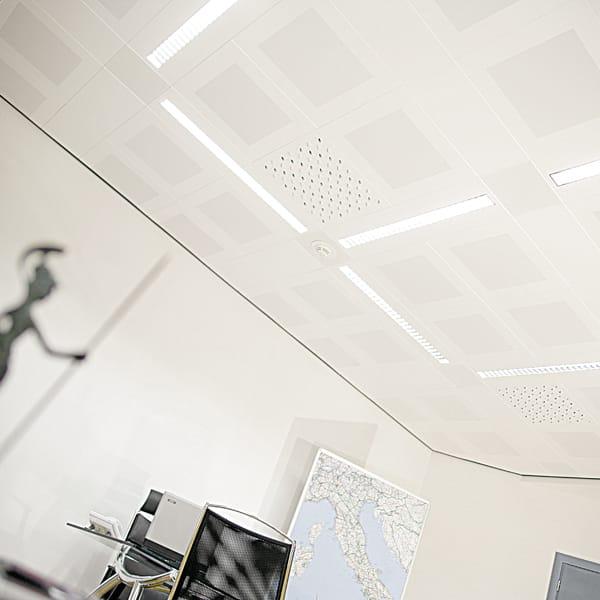 Falso techo en acero metal modular by atena - Falso techo modular ...