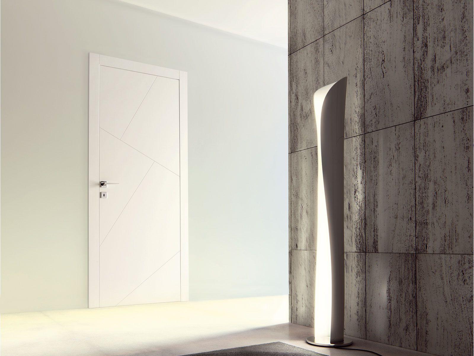 Porta a filo muro laccata rio by ghizzi benatti design - Porta a muro ...