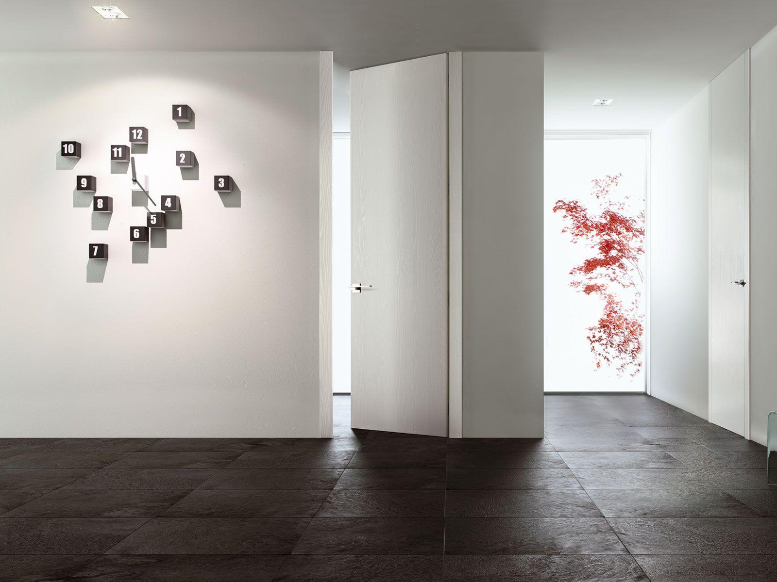 Porta a battente a filo muro tabula by ghizzi benatti - Porta a muro ...