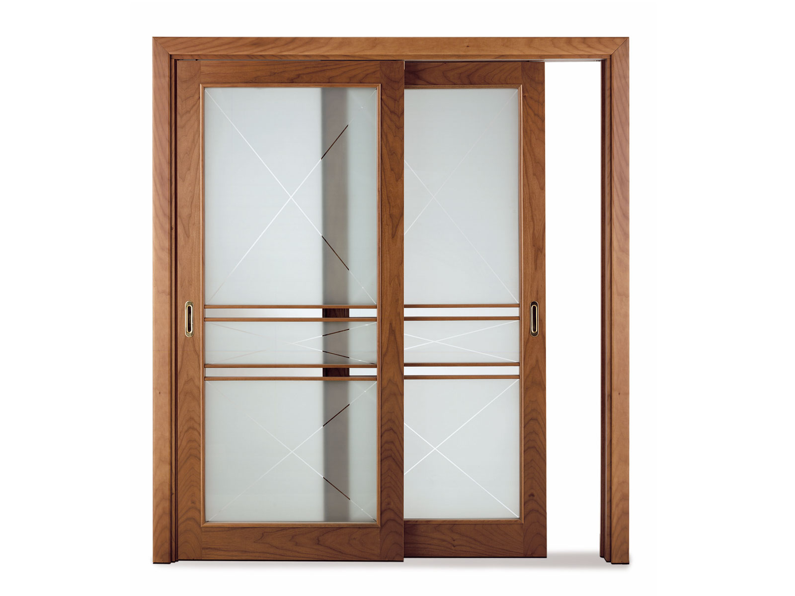Puerta corrediza de vidrio dover by ghizzi benatti - Puerta corrediza madera ...