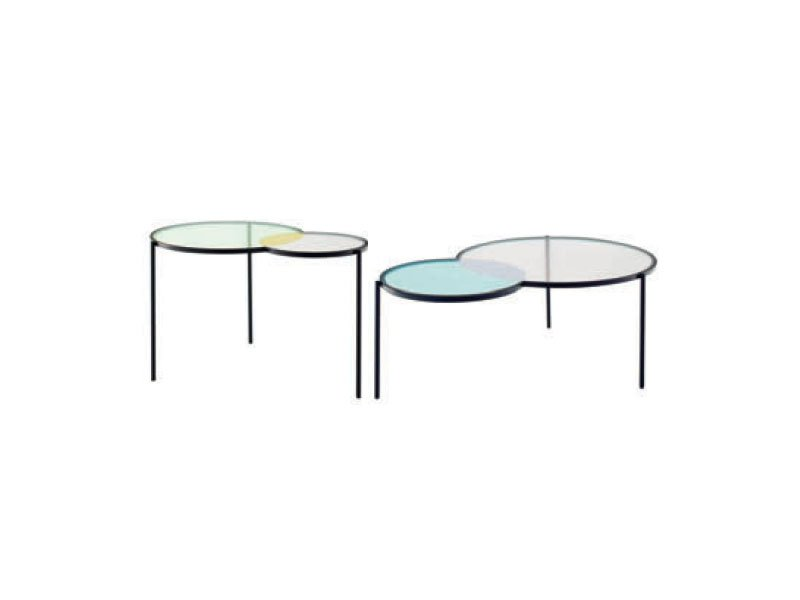 Glass coffee table hues by roset italia design outofstock - Ligne roset table basse ...