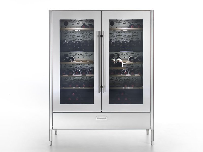 liberi in cucina cave vin verticale by alpes inox design. Black Bedroom Furniture Sets. Home Design Ideas