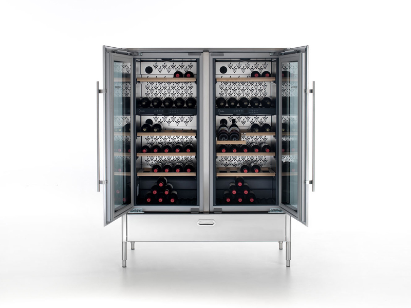 fr produits  liberi in cucina cave a vin verticale avec porte vitree alpes inox
