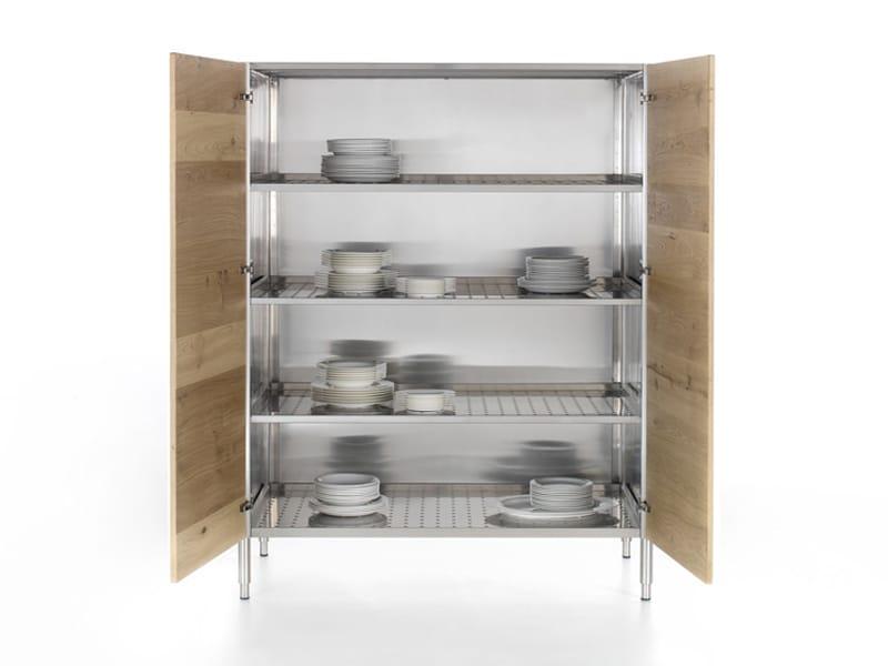 Armario de cocina de madera con puertas colecci n liberi - Armario esquinero cocina ...