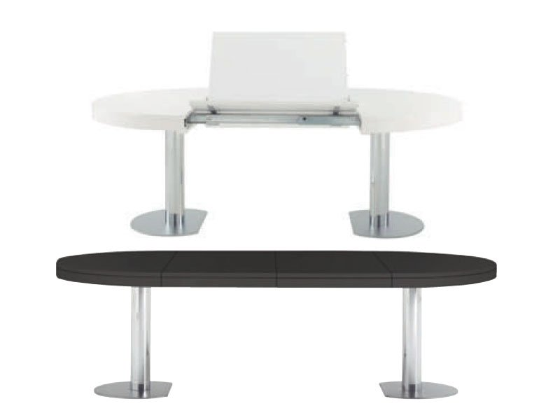 Extending dining table craft 1 by roset italia design delo - Table extensible 12 personnes ...