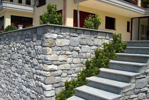 Revestimiento de pared de piedra reconstituida para for Revestimiento imitacion piedra para exterior