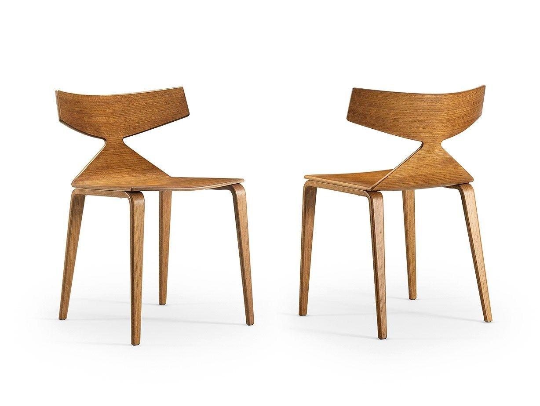 Sedia in legno collezione saya by arper design lievore for Sedia design legno