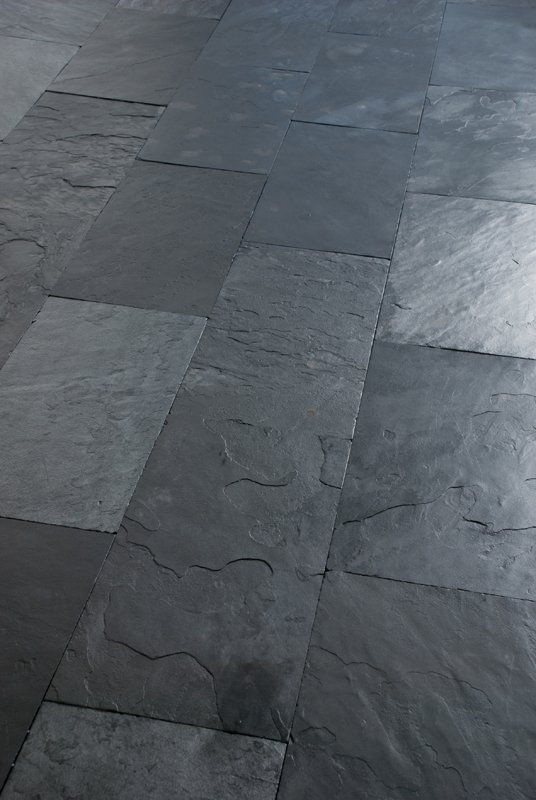 Slate flooring african blue by artesia international slate company Slate tile flooring