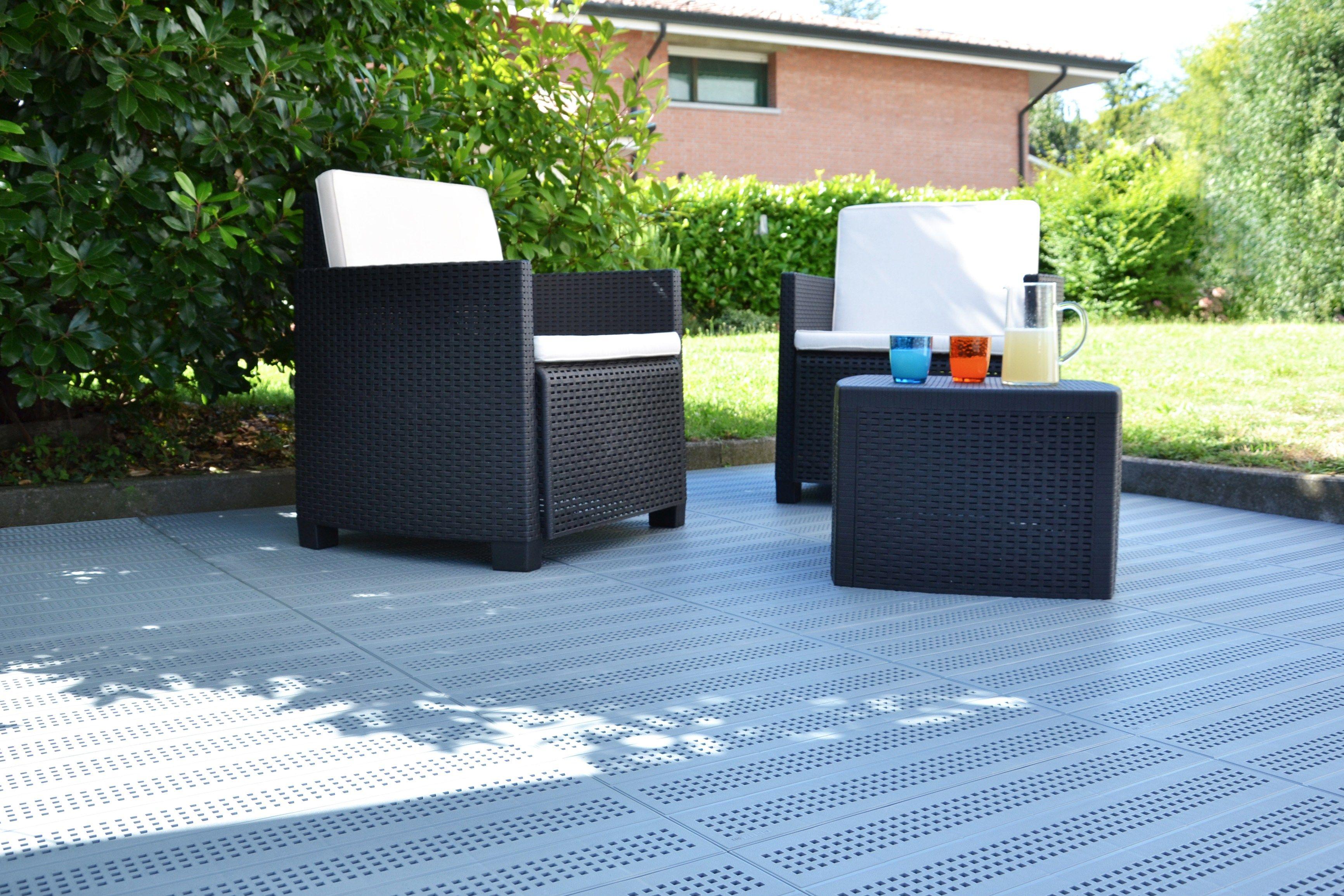 Pavimento per esterni in plastica piastrella by pontarolo - Pavimento per giardino ...