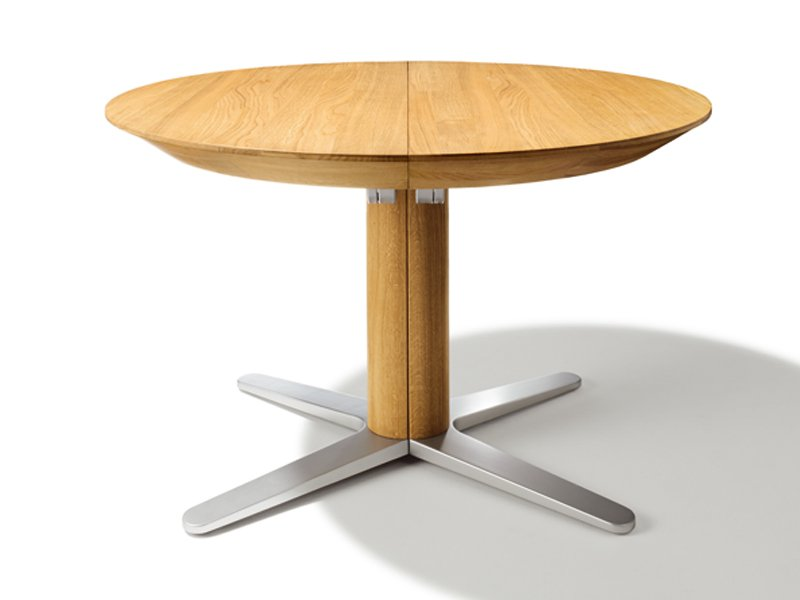 Girado table ronde by team 7 nat rlich wohnen - Table ronde bois extensible ...