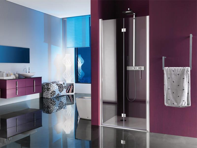 cabine de douche en niche avec bac portes pliantes alter. Black Bedroom Furniture Sets. Home Design Ideas