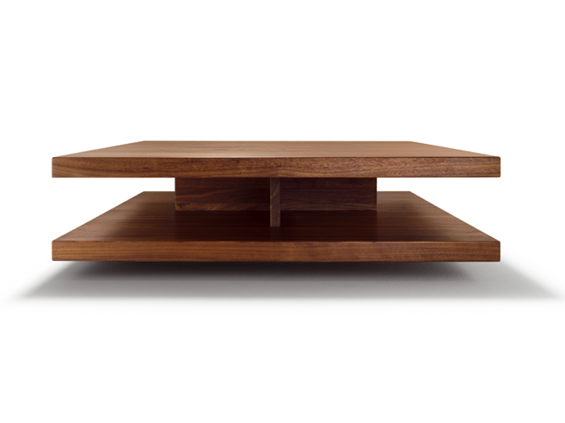 low square wooden coffee table c3team 7 design sebastian desch