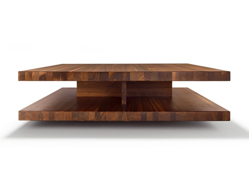 Low Square Wooden Coffee Table C3 By Team 7 Nat Rlich Wohnen Design Sebastian Desch