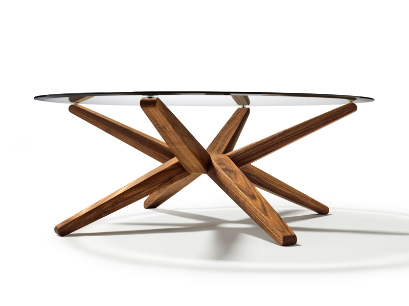 Table basse ronde en verre stern by team 7 nat rlich wohnen design jacob strobel - Table basse ronde verre et bois ...